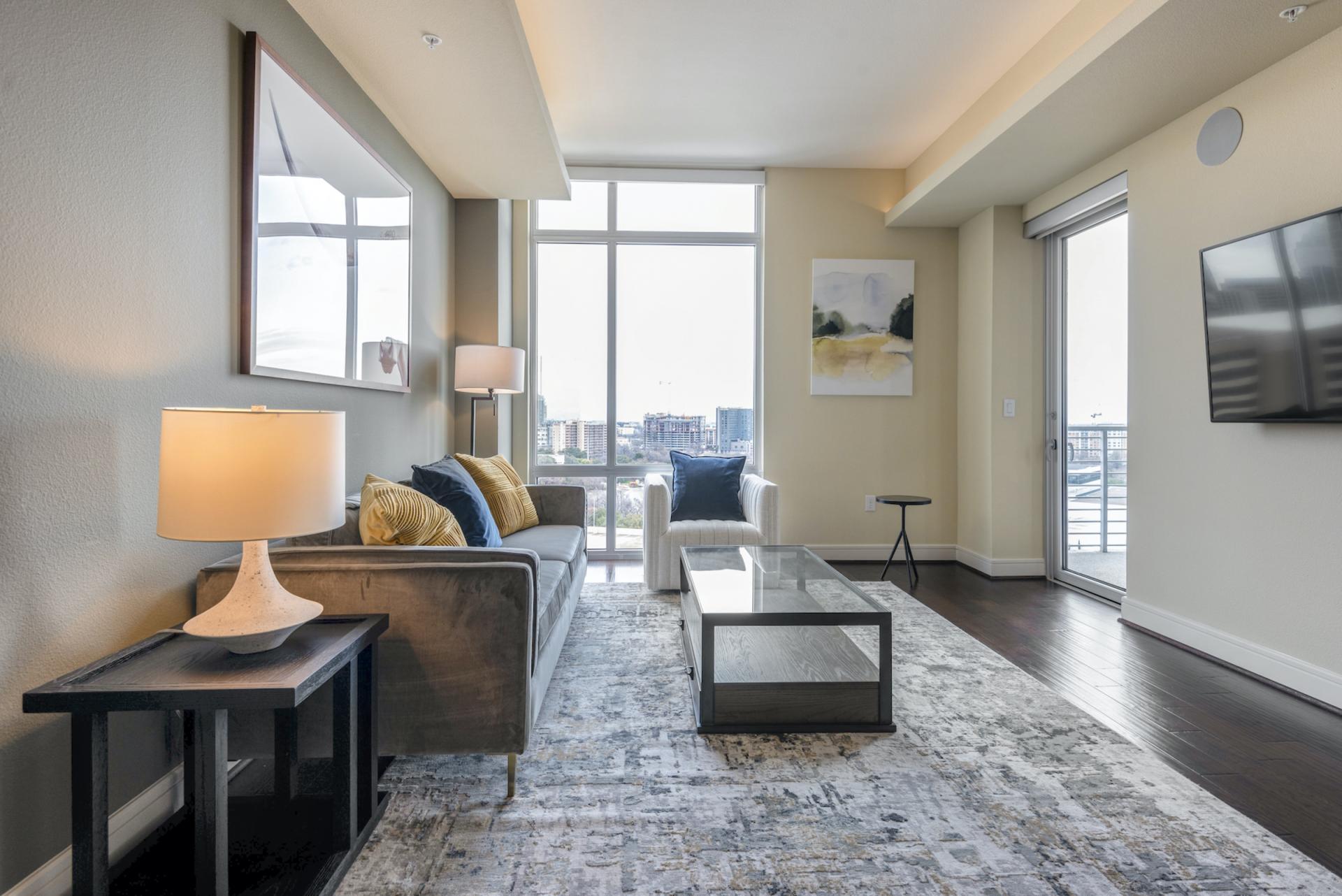 Open living at Apartments at The Crosby, Deep Ellum, Dallas