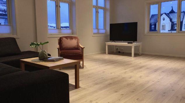 Living area at Rikard Apartment, Centre, Harstad
