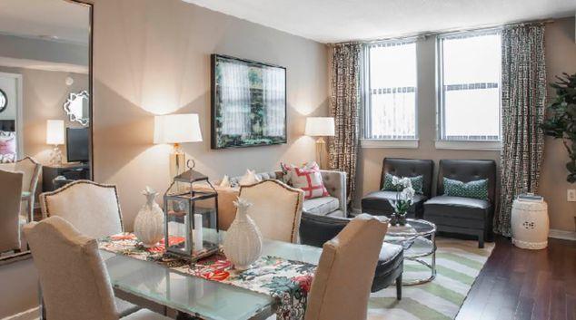 Living Room at Post Massachusetts Avenue