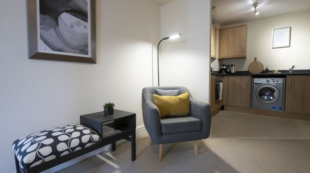 Living area at Drummond Grove Apartment, Willesborough, Ashford