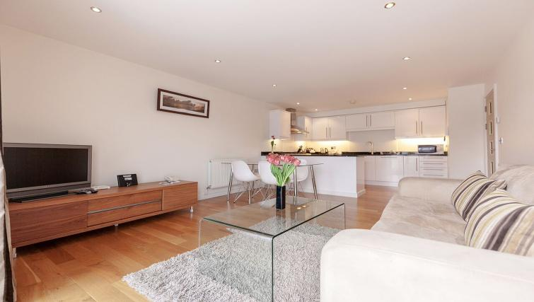 Bright living area at Marquis Court Apartments