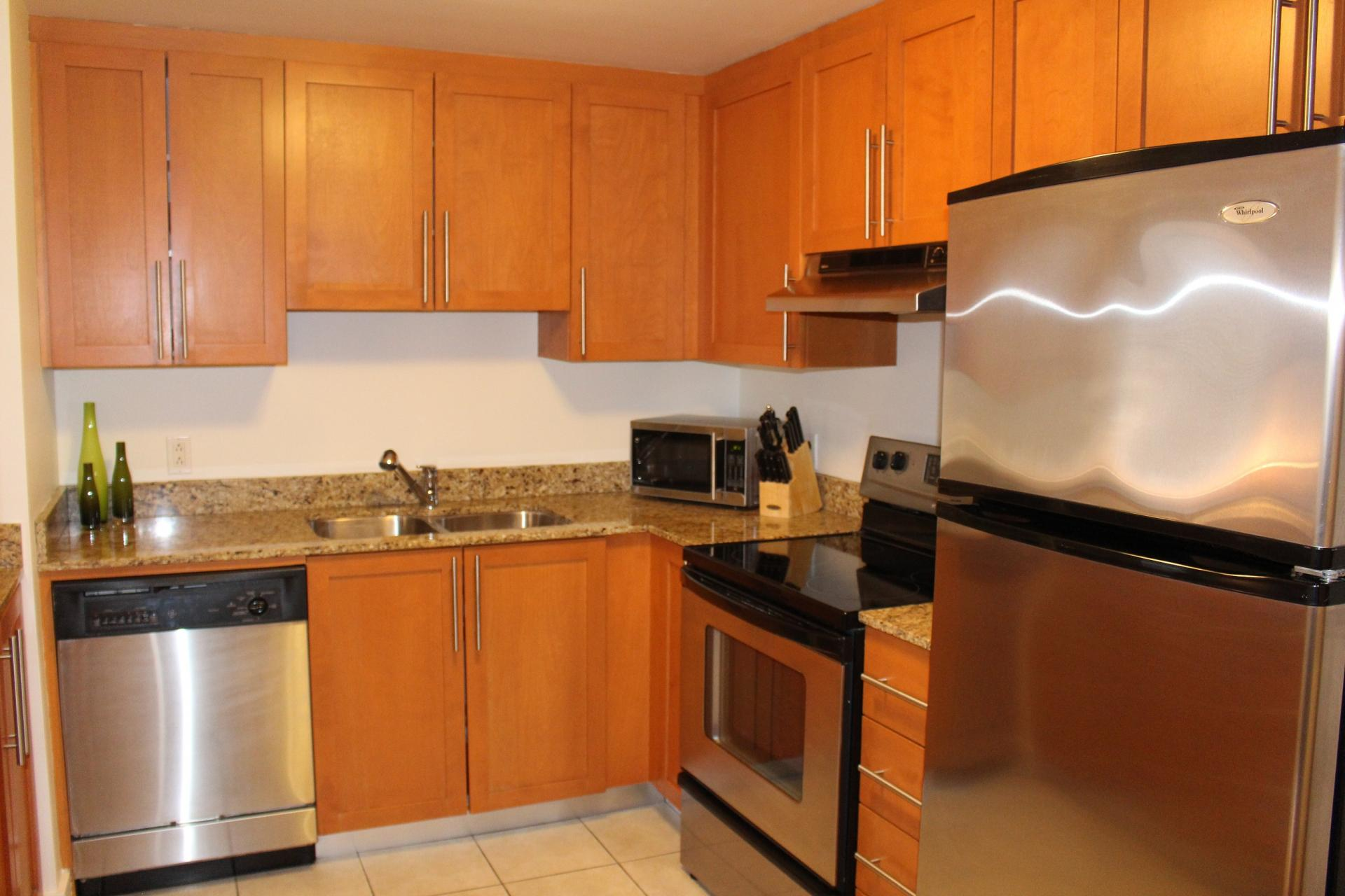 Kitchen at The Mosaique Apartments, Centre, Montreal