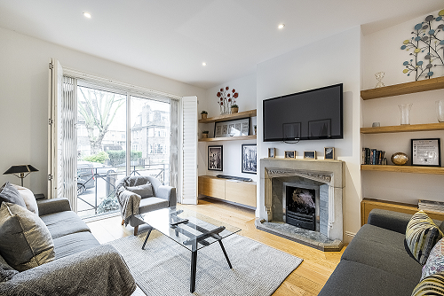 Living area at The Porchester Gardens, Bayswater, London