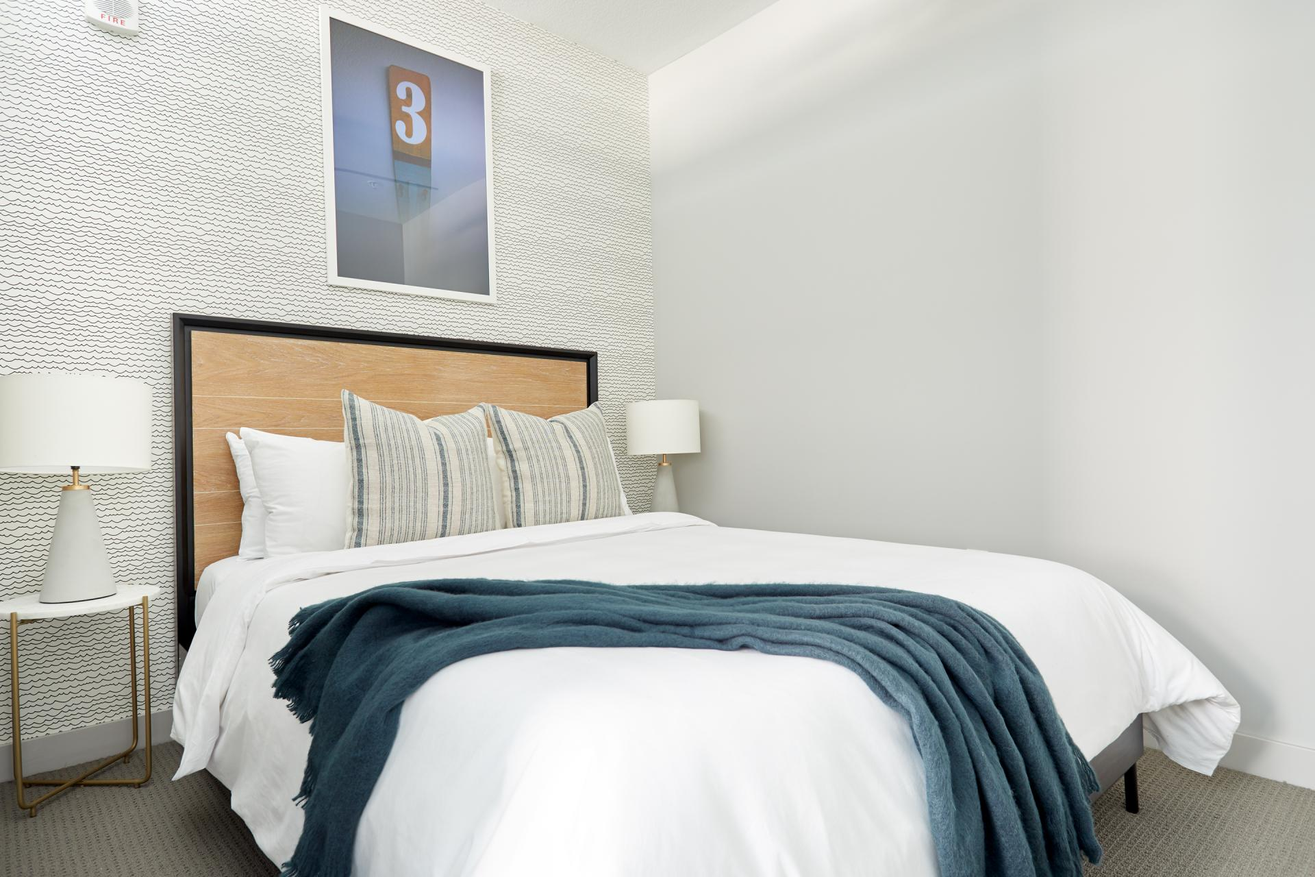 Bedroom at Luna Apartment, Cedar-Riverside, Minneapolis