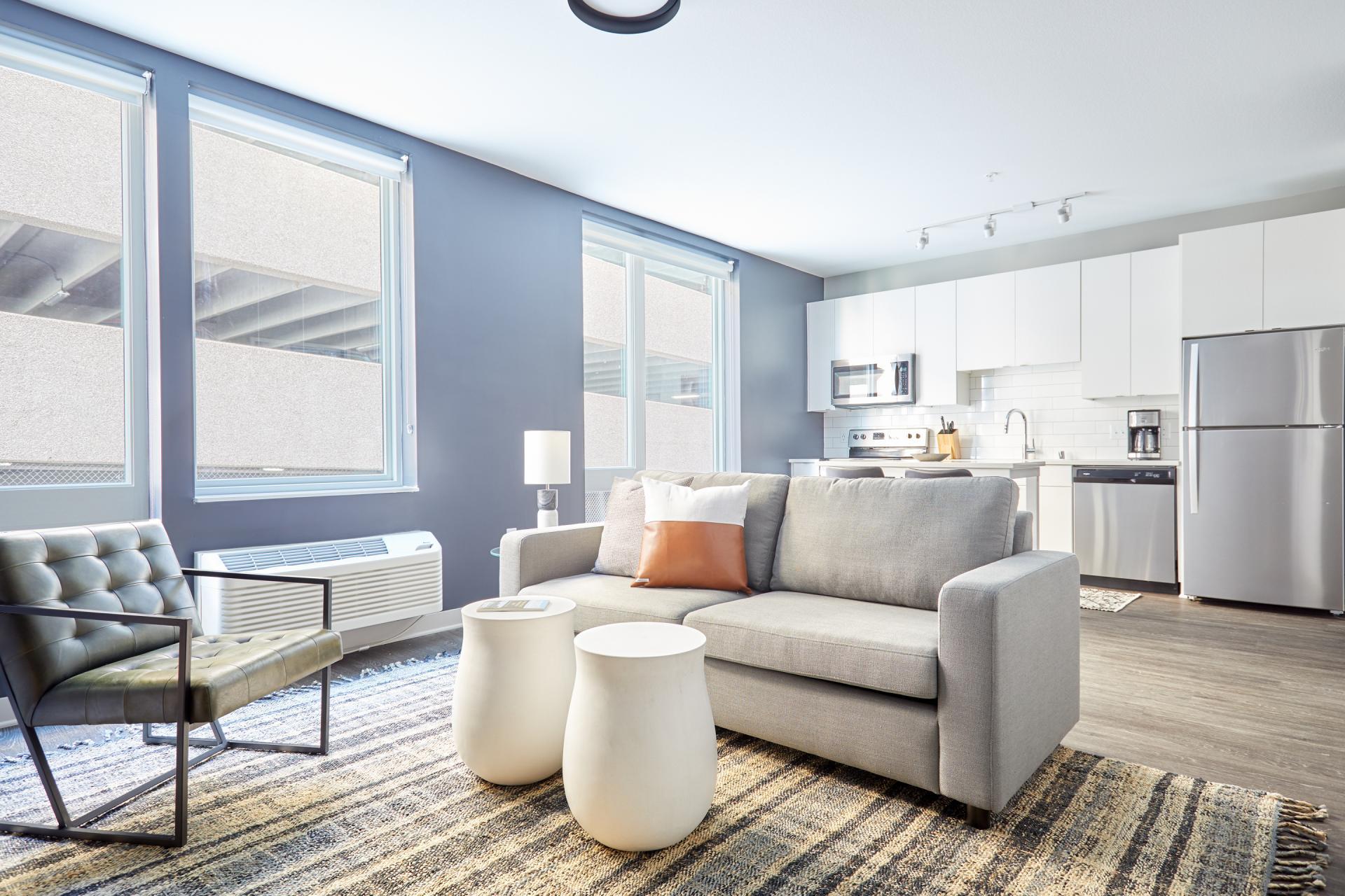 Sofa at Luna Apartment, Cedar-Riverside, Minneapolis