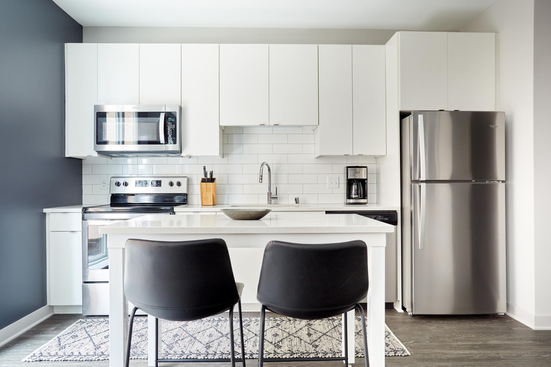 Kitchen at Luna Apartment, Cedar-Riverside, Minneapolis