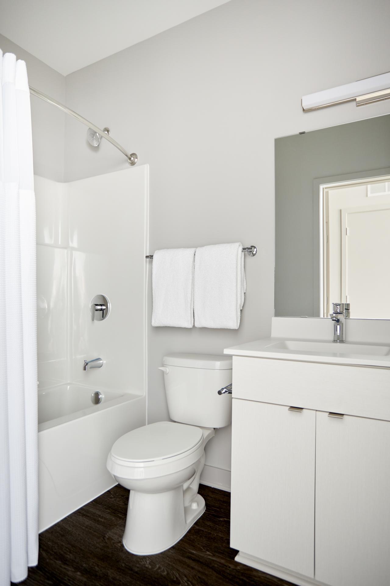 Bathroom at Luna Apartment, Cedar-Riverside, Minneapolis