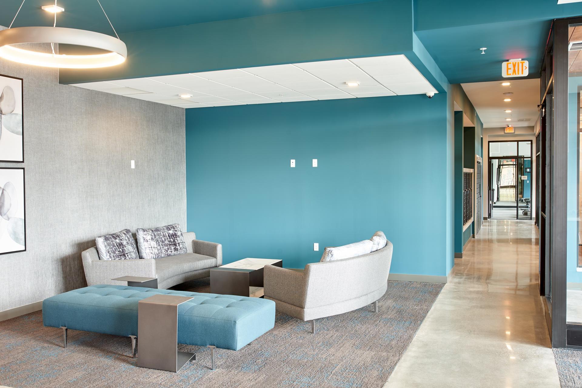 Lobby at Luna Apartment, Cedar-Riverside, Minneapolis