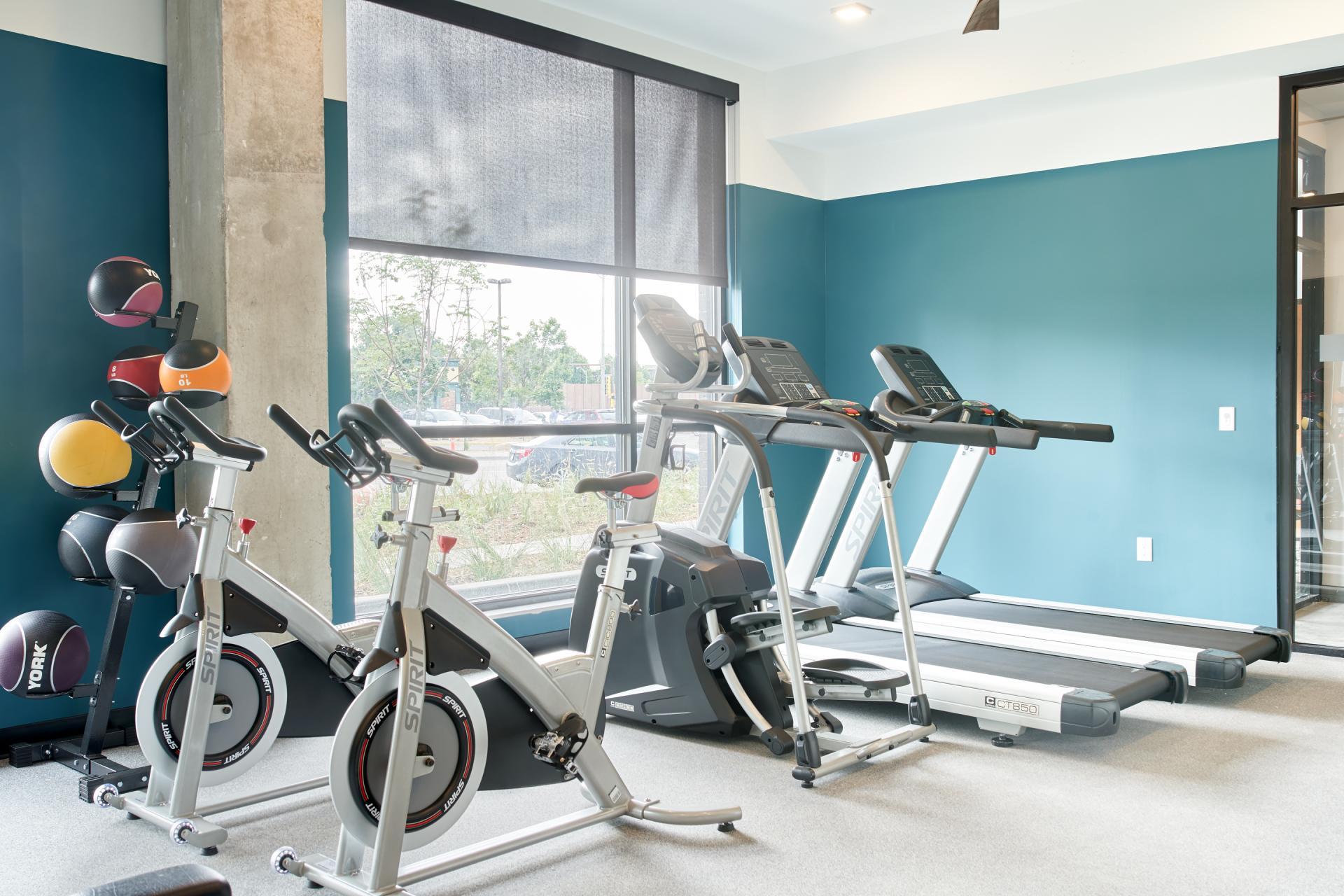 Gym at Luna Apartment, Cedar-Riverside, Minneapolis