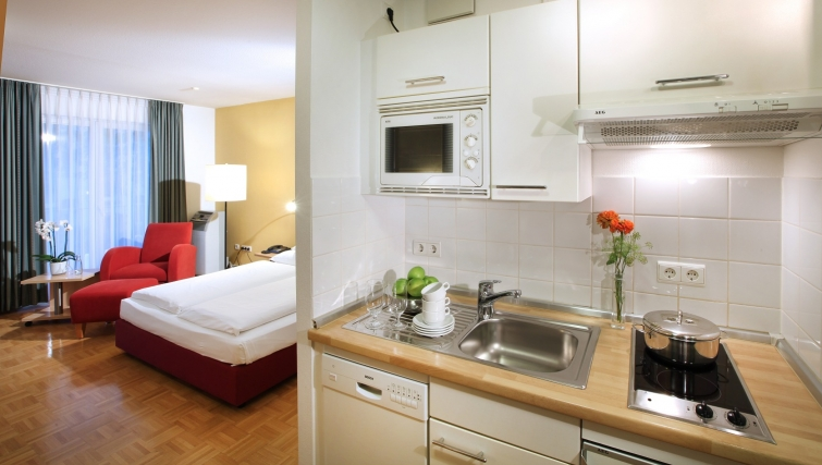 Kitchen at Lindner Congress Apartments Frankfurt