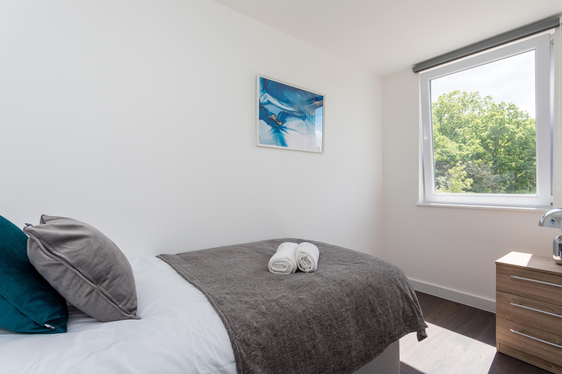Bedroom at Sutherland Quarters, Three Bridges, Crawley