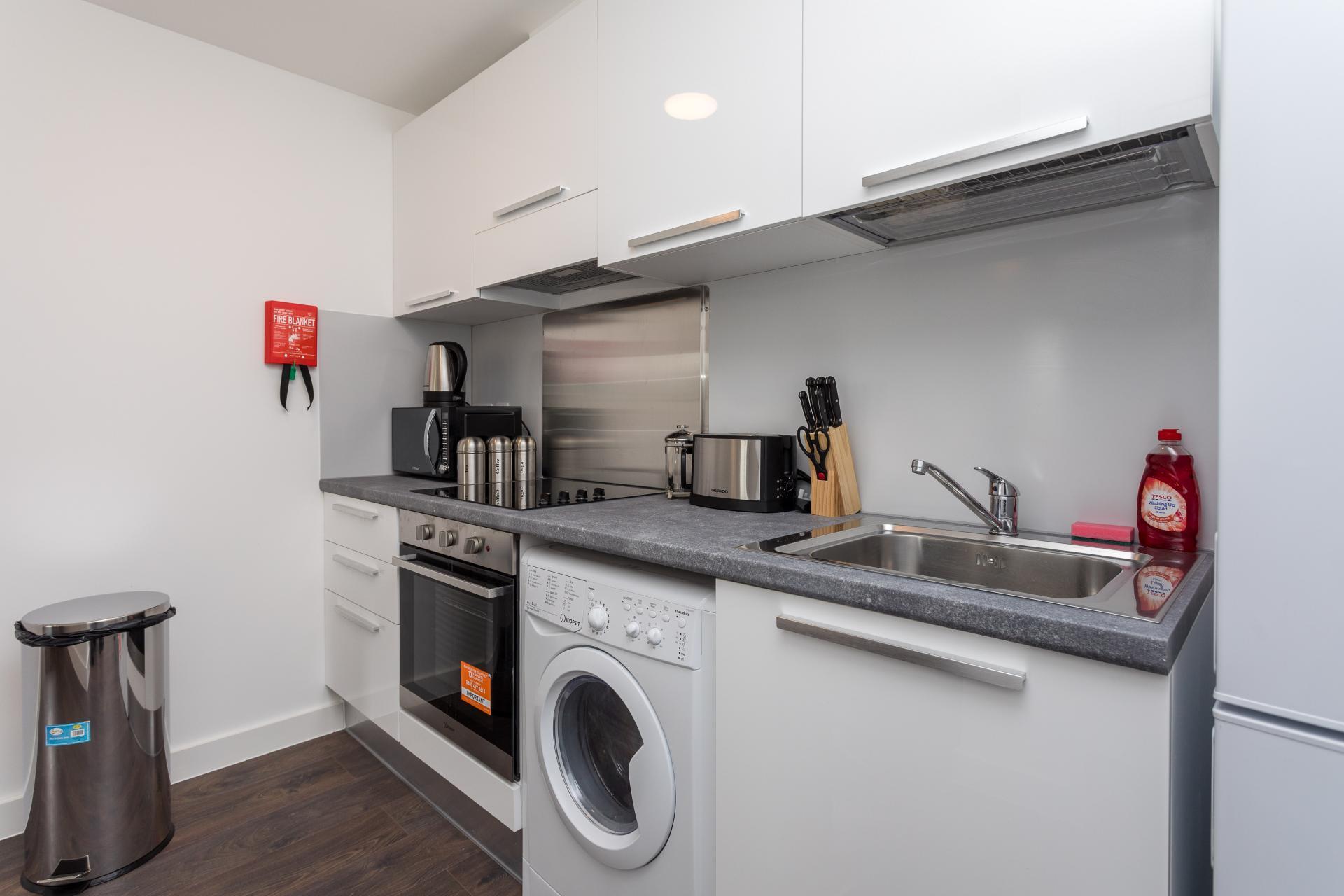 Kitchen at Sutherland Quarters, Three Bridges, Crawley