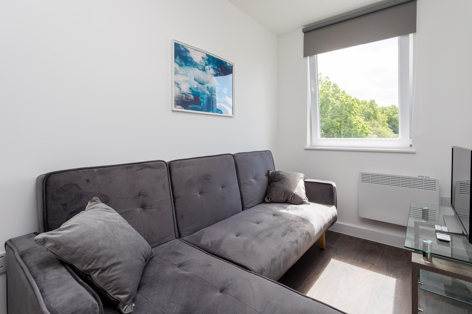 Sofa at Sutherland Quarters, Three Bridges, Crawley