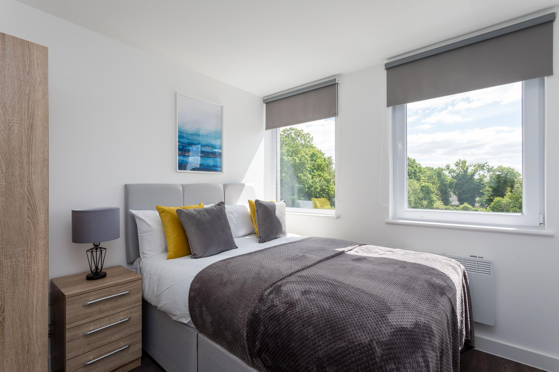 Bright bedroom at Sutherland Quarters, Three Bridges, Crawley