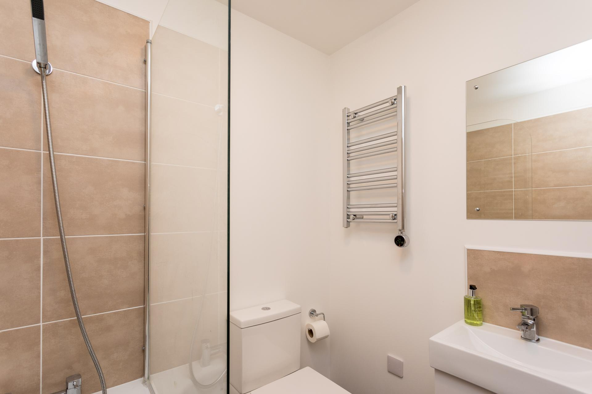 Shower at Sutherland Quarters, Three Bridges, Crawley