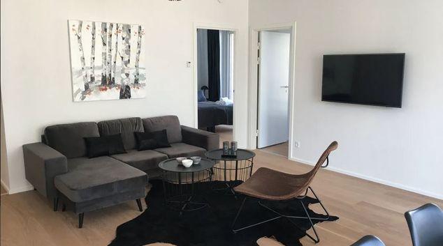 Living area at Islands Brygge Apartment, Havnestaden, Copenhagen