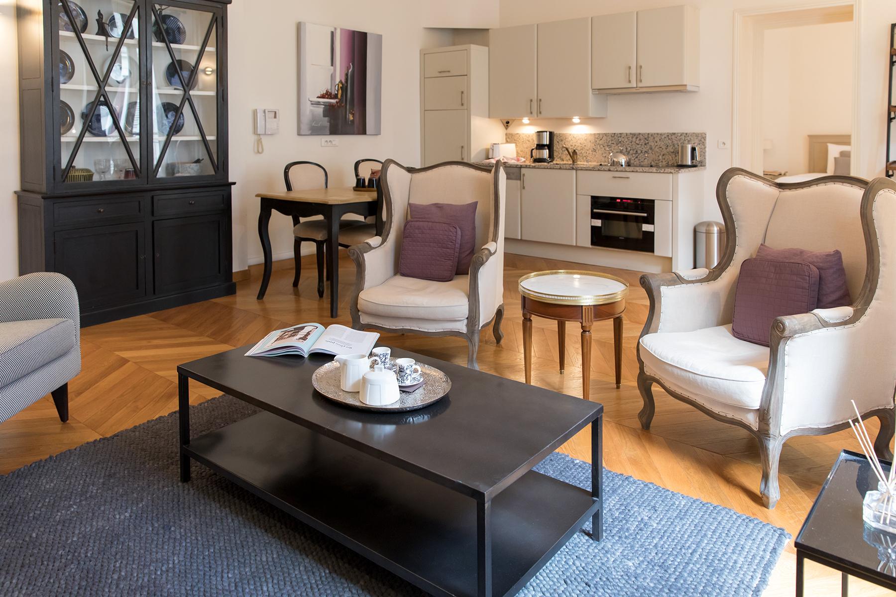 Cosy seats at Apartment Monceau Chic, 9th Arr, Paris