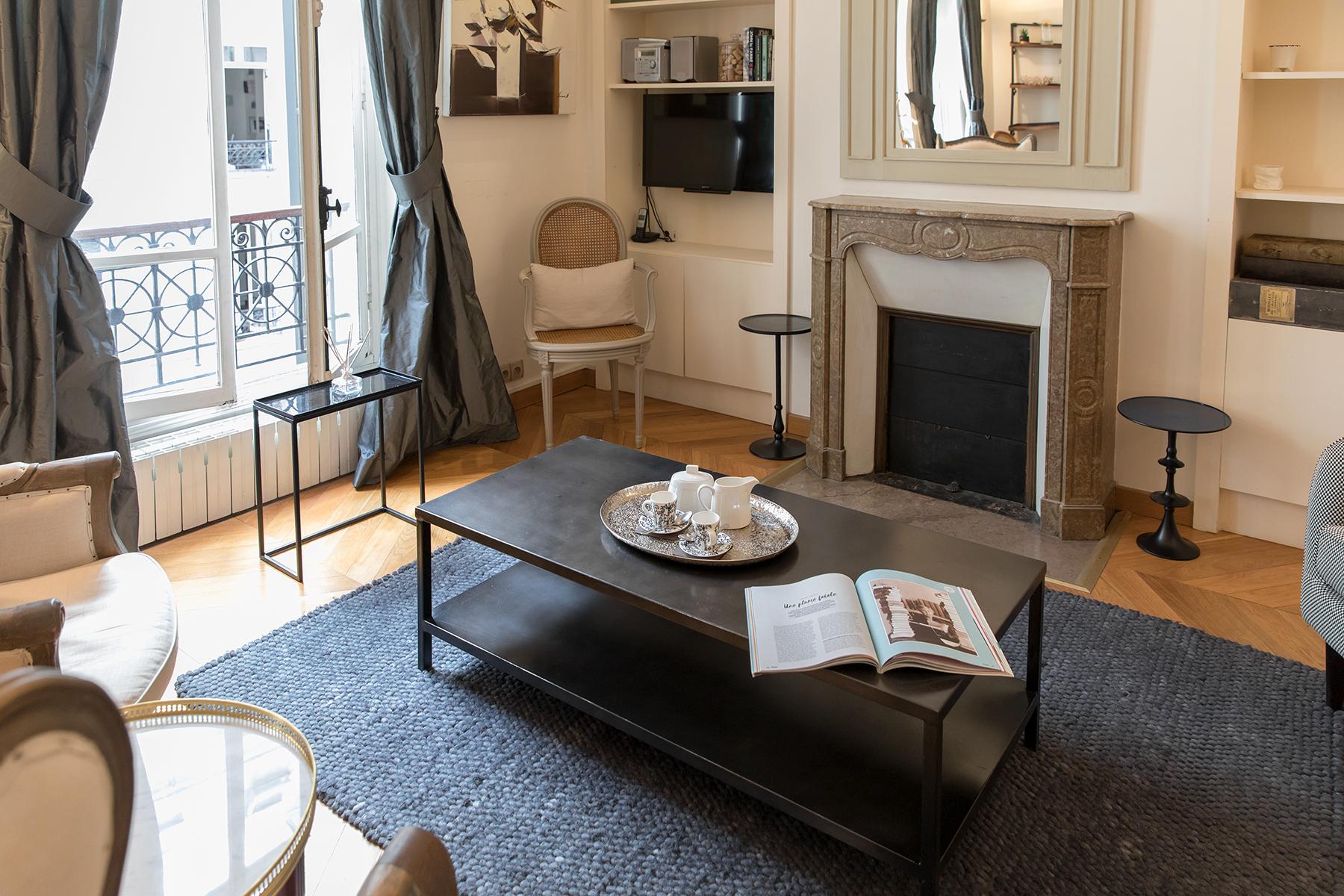 Table at Apartment Monceau Chic, 9th Arr, Paris