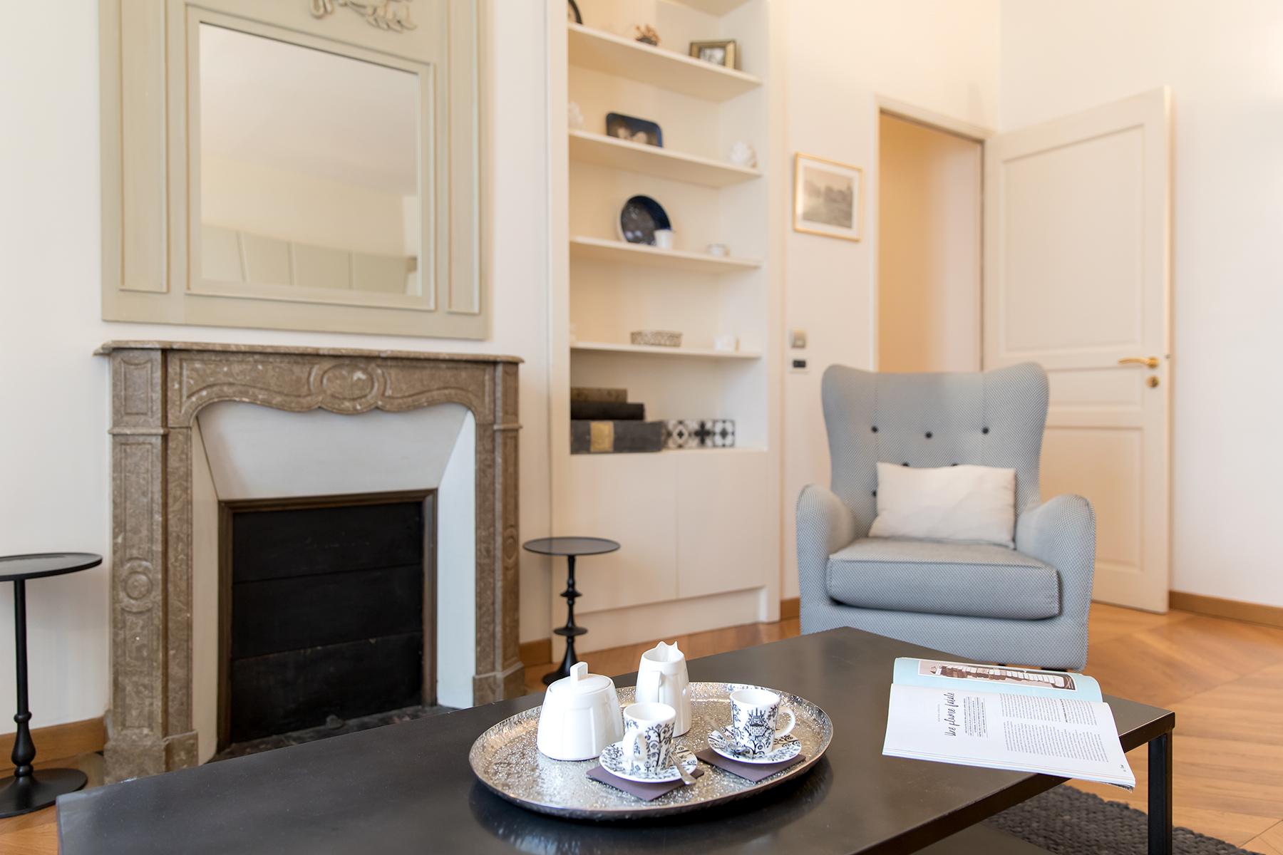 Fireplace at Apartment Monceau Chic, 9th Arr, Paris