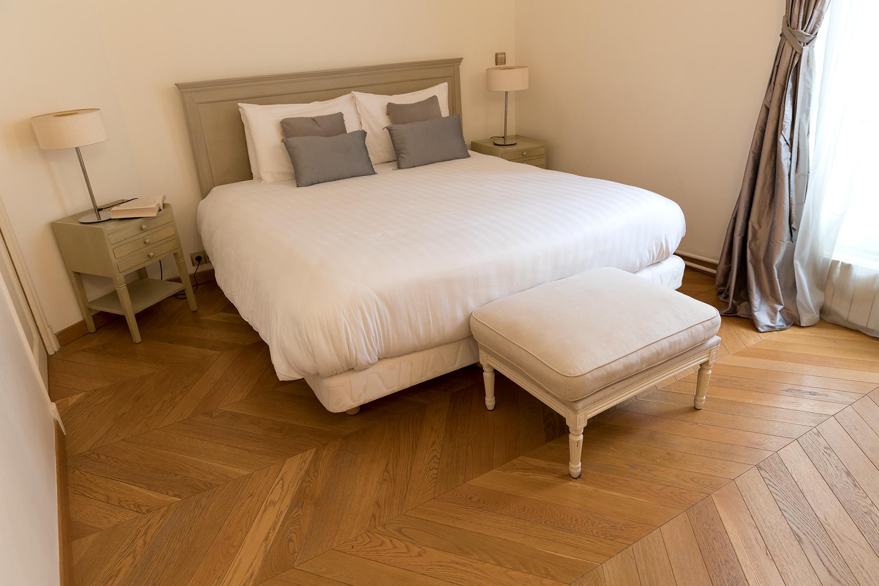 Light bedroom at Apartment Monceau Chic, 9th Arr, Paris