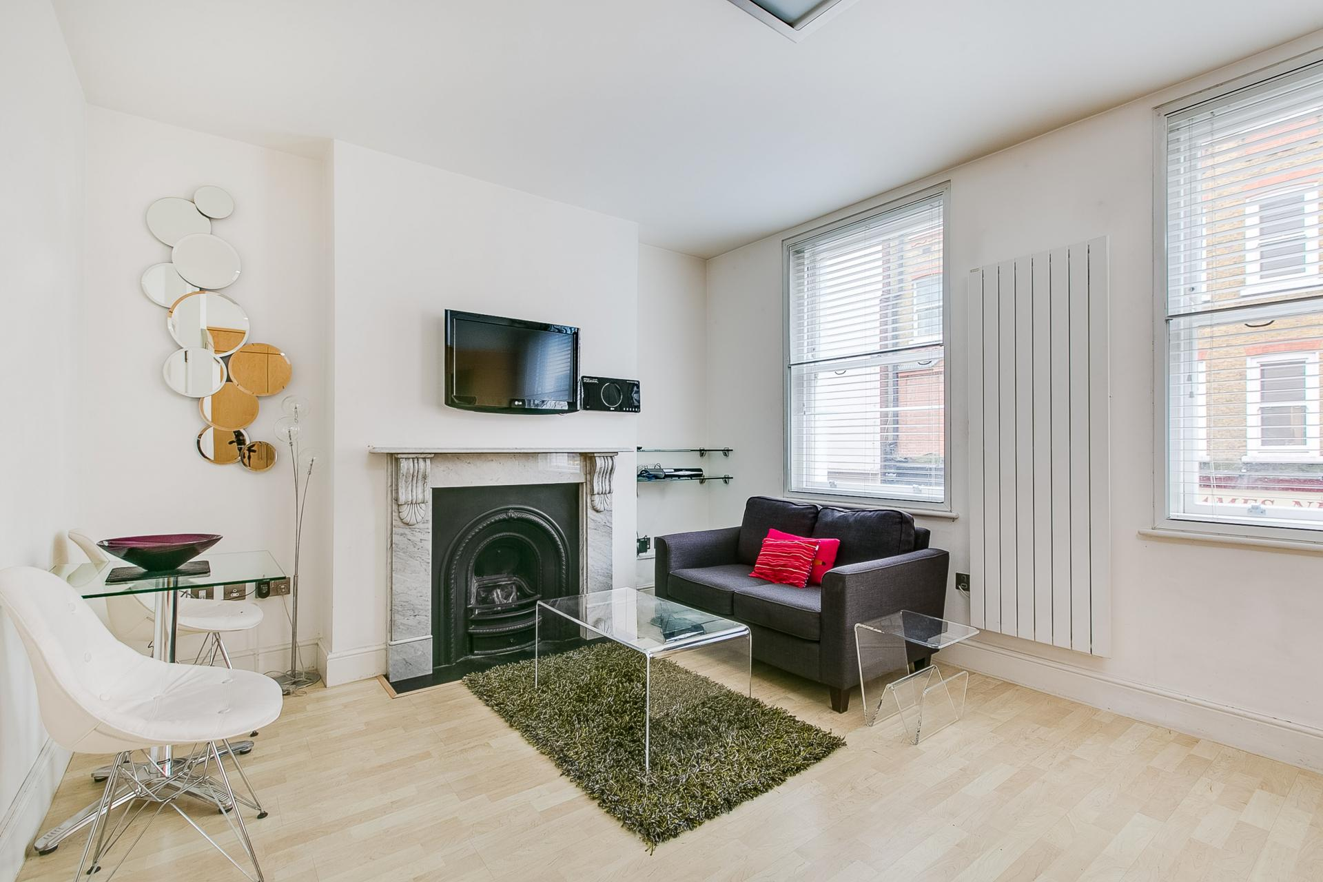 Living area in 34 James Street Apartments
