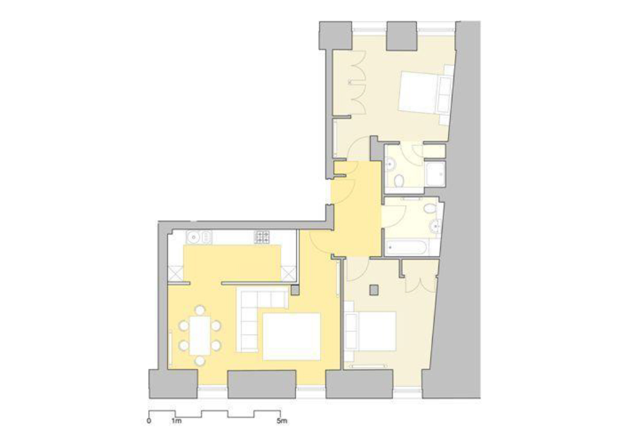 2 bed floor plan at Inverness High Street Apartments, Centre, Inverness