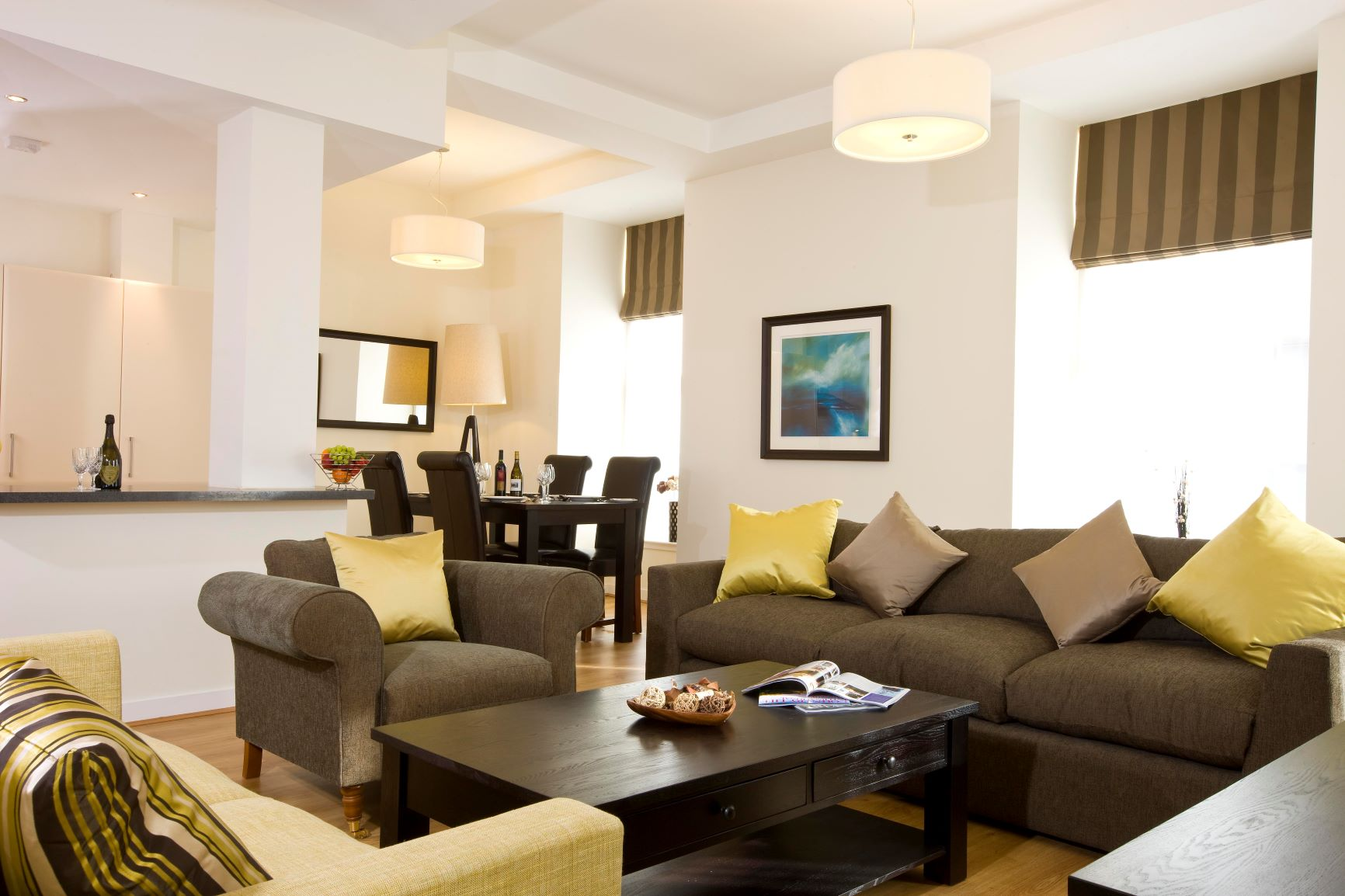 Living area at Inverness High Street Apartments, Centre, Inverness
