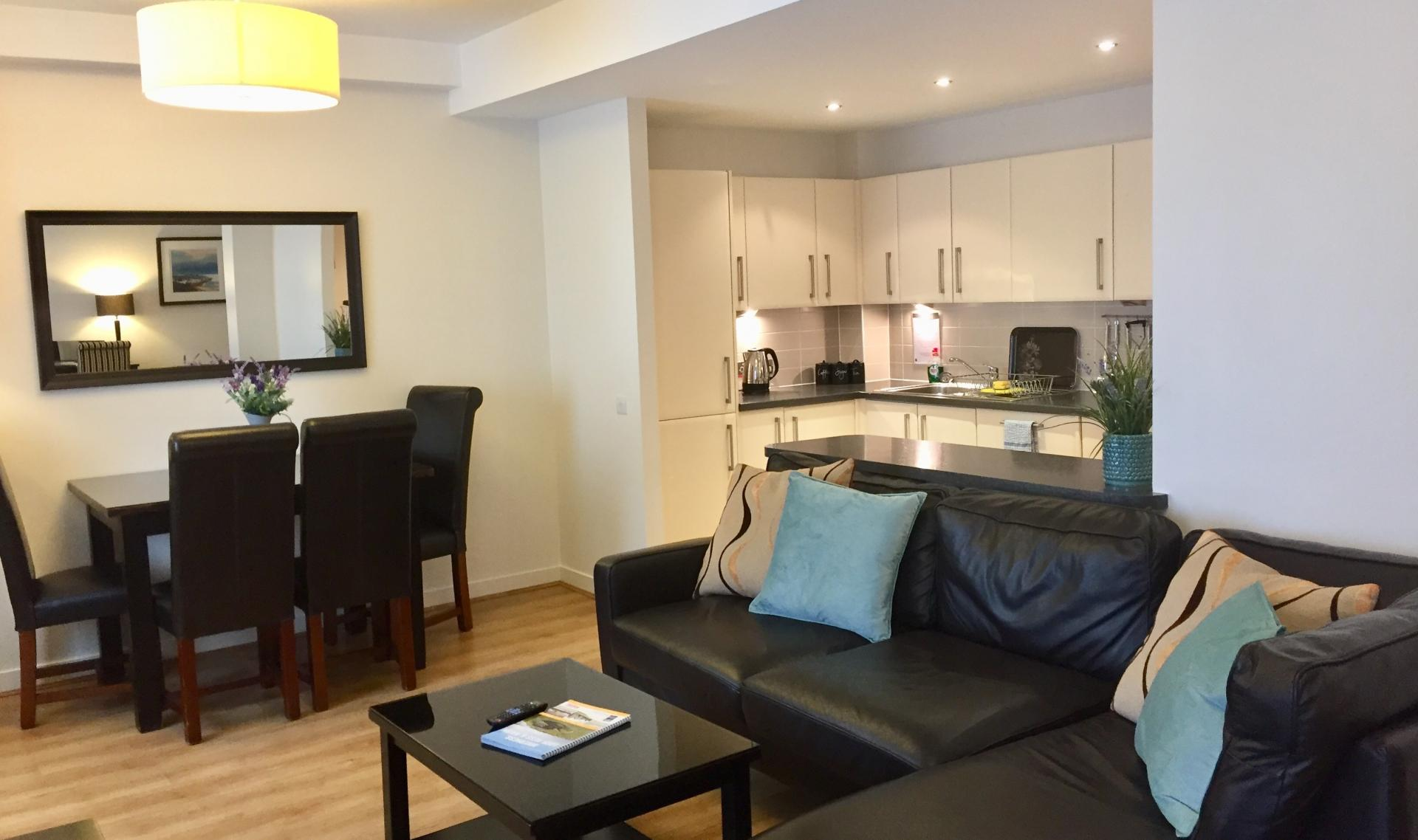 Open-plan at Inverness High Street Apartments, Centre, Inverness