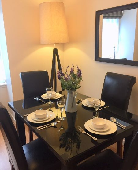 Dining table at Inverness High Street Apartments, Centre, Inverness
