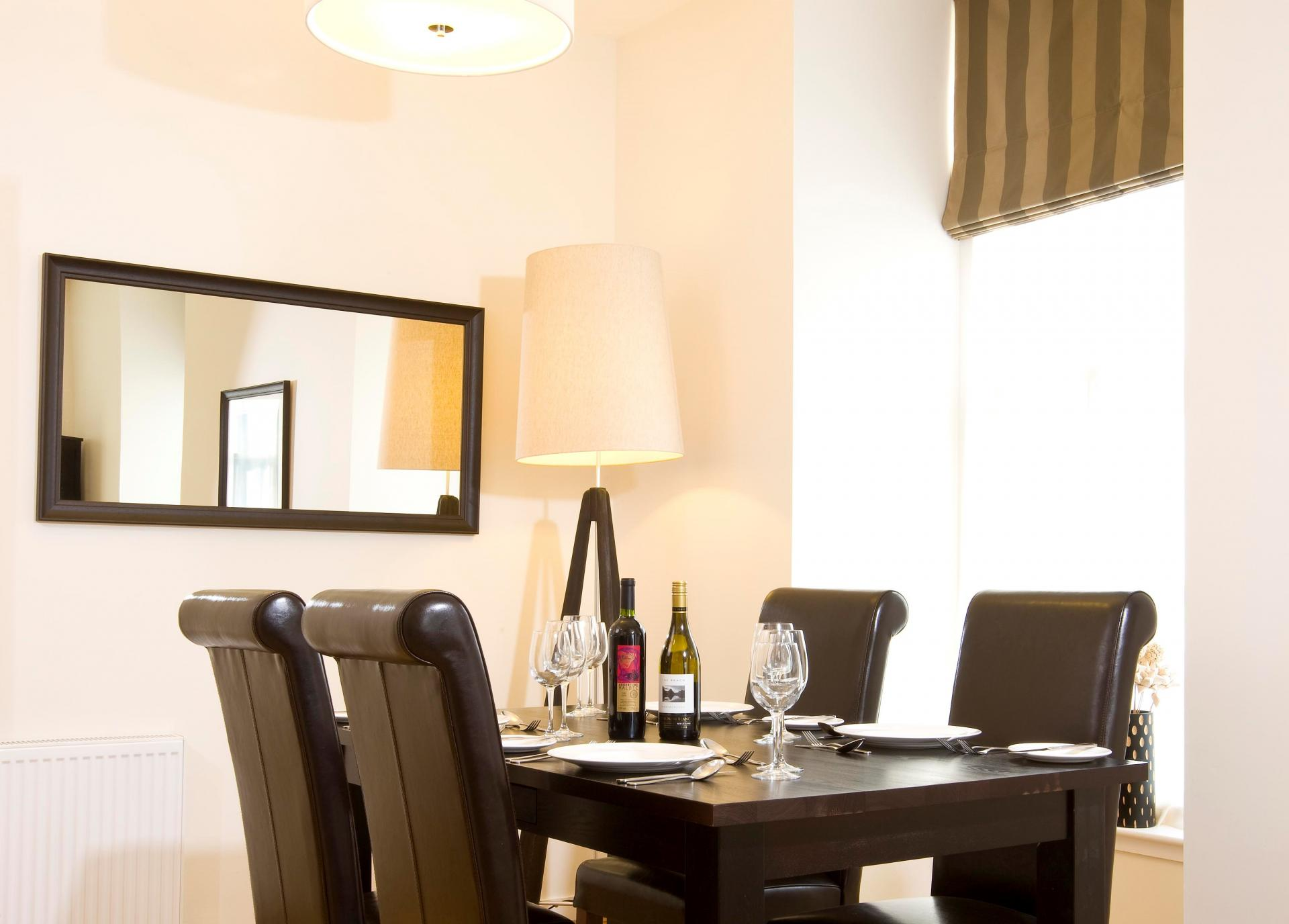 Dining area at Inverness High Street Apartments, Centre, Inverness