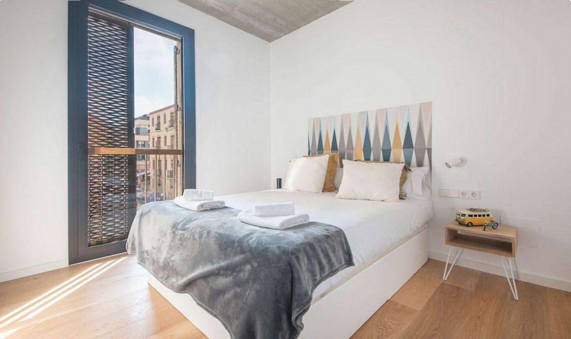 Bedroom at Taulat Apartments, El Poblenou, Barcelona