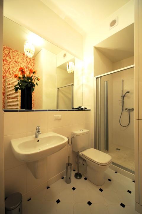 Bathroom vanity at Krakow Old Town Apartments