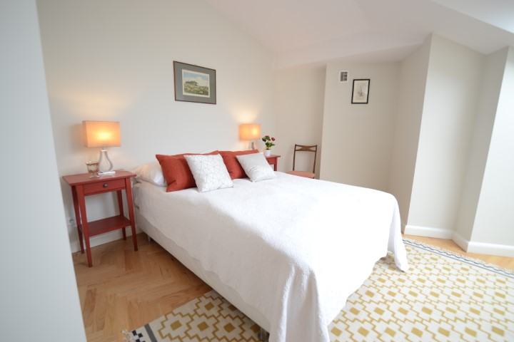 Double bed at Krakow Old Town Apartments