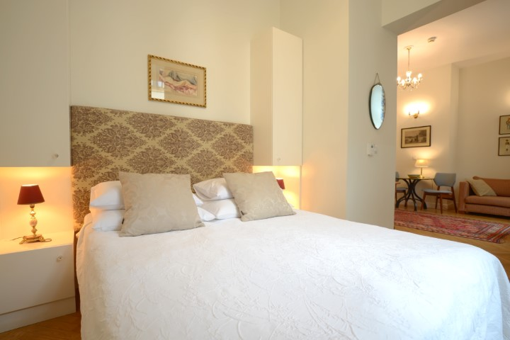 Luxurious bed spread at Krakow Old Town Apartments