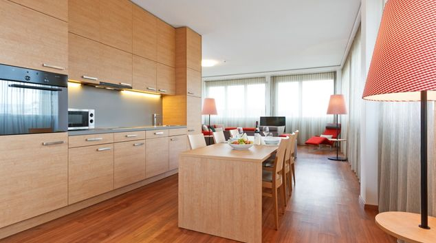 Kitchen at Brunnmatt Apartments, Cham, Zug