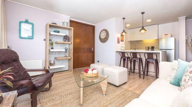 Open plan living at Apartment Vespucio Sur, Vaticano, Santiago
