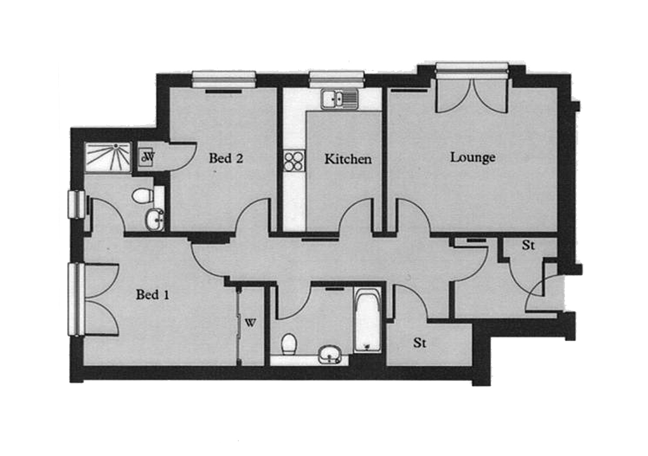 Floor plan 2 at Hedgefield Apartments, Centre, Inverness