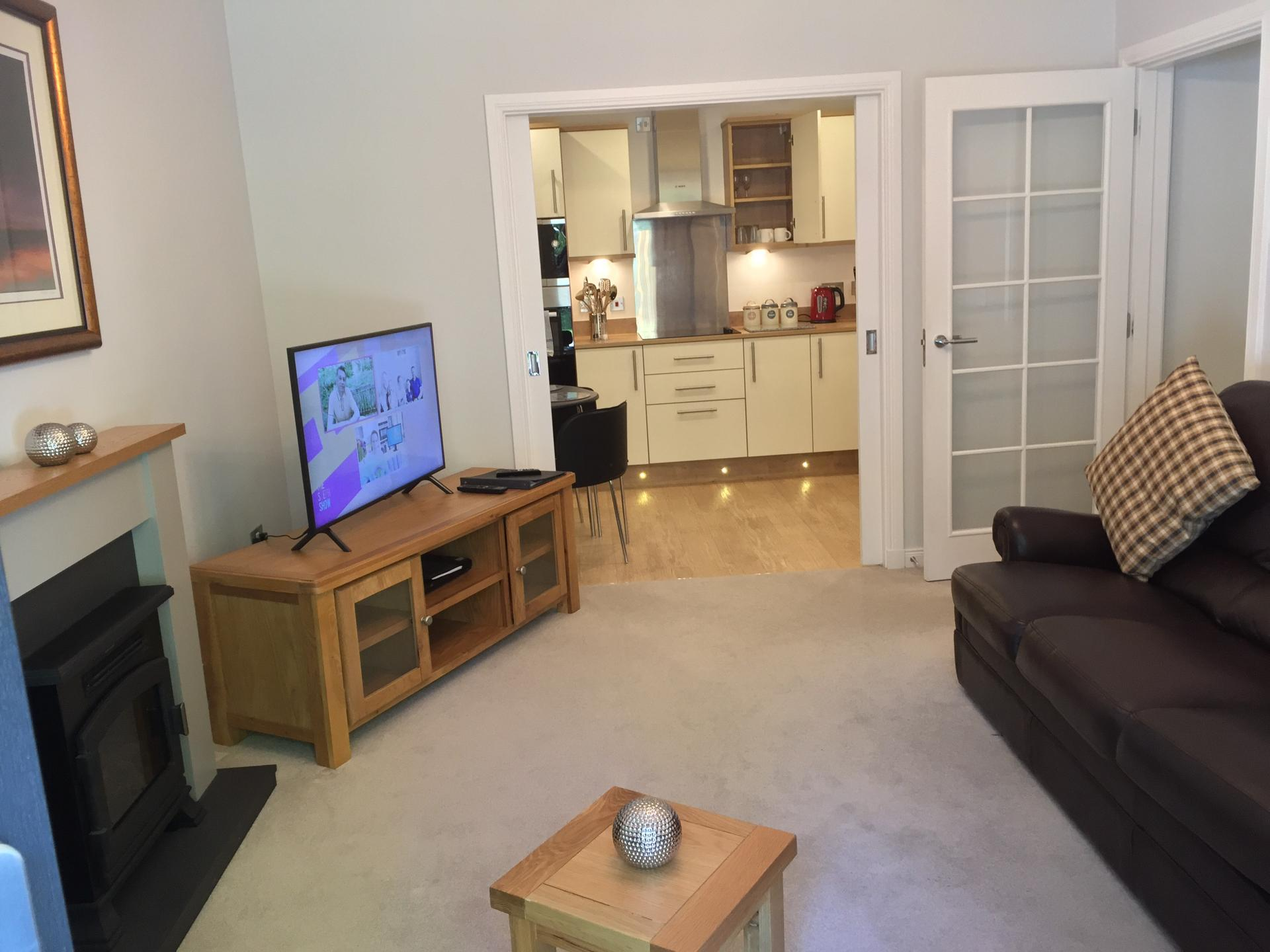 Living area at Hedgefield Apartments, Centre, Inverness