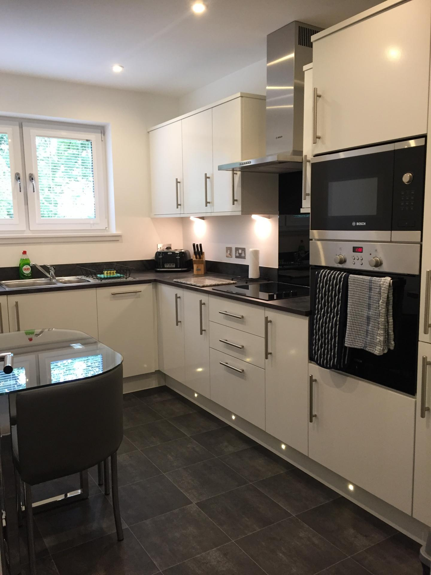 Modern kitchen at Hedgefield Apartments, Centre, Inverness
