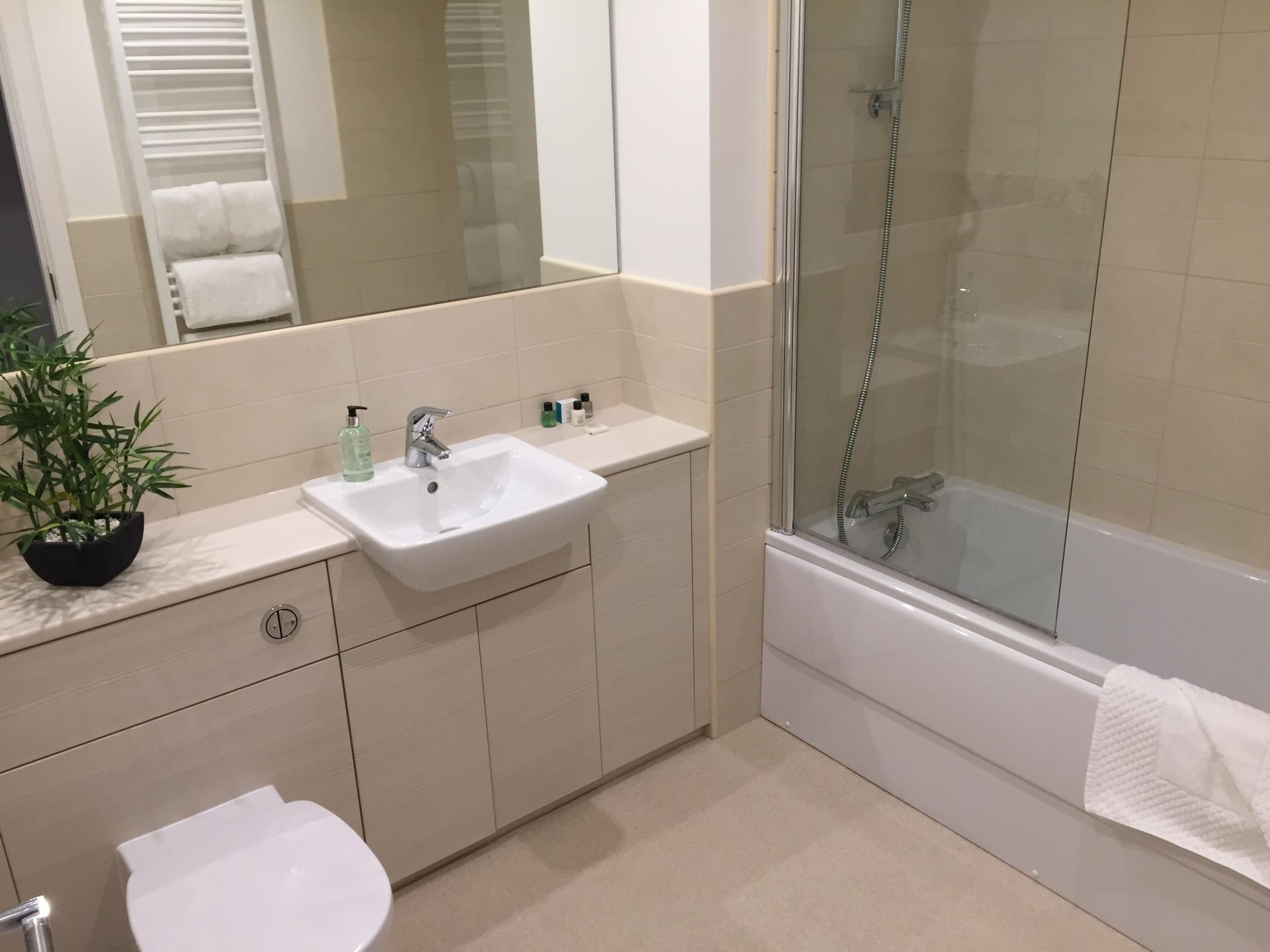 Bathroom at Hedgefield Apartments, Centre, Inverness