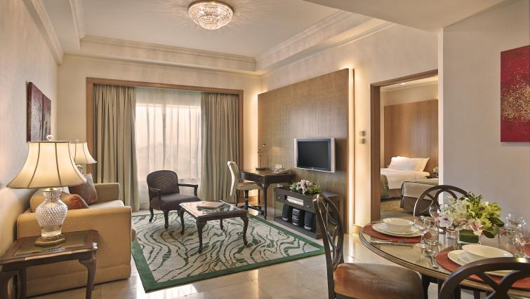 Living room at Shangri-La Apartments Singapore