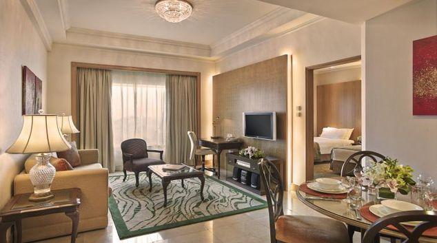 Living room at Shangri-La Apartments Singapore