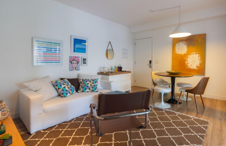 Living area at Corrientes Green, Brooklin, Sao Paulo
