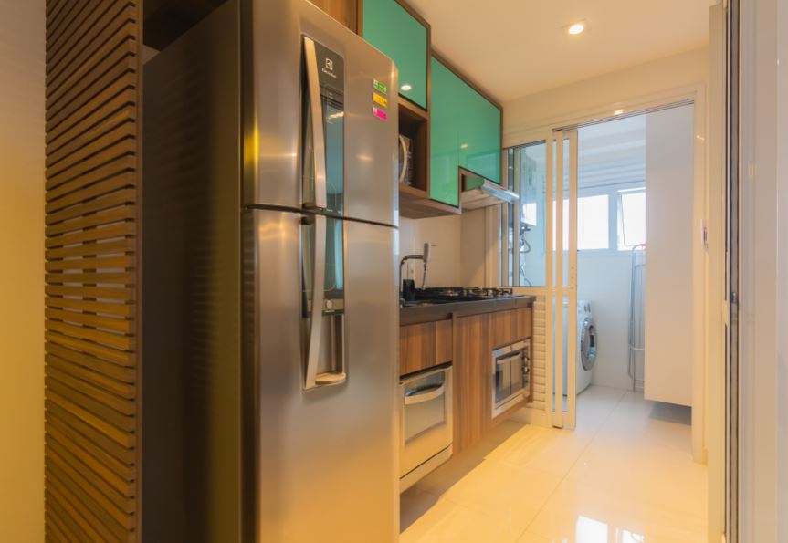 Kitchen at Corrientes Green, Brooklin, Sao Paulo
