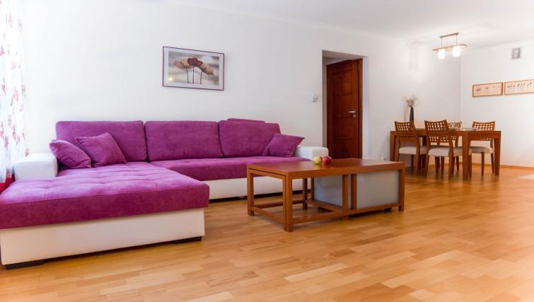 Living room at Davos Apartments