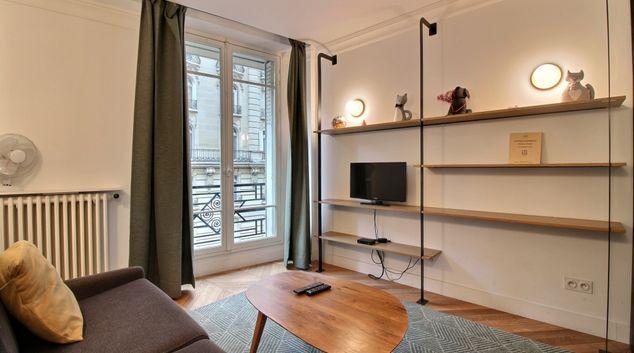 Living area at Sweet Marceau Apartment, 8th Arr, Paris