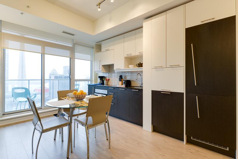 Kitchen at Nelson Street Apartments, Old Toronto, Toronto