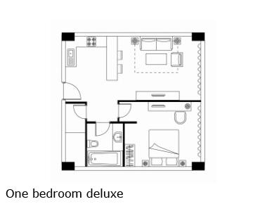 Floorplan at Somerset Heping Apartments