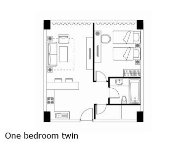 Floorplan 2 at Somerset Heping Apartments