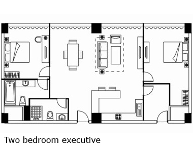Floorplan 4 at Somerset Heping Apartments